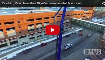 It's a bird, it's a plane, it's a Sky-Vac truck-mounted boom vac!