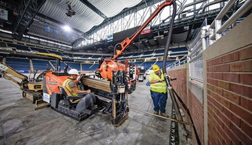 Directional Drills Become Necessity in CAT6 Installation at NFL Stadium