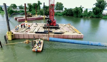 New Water Pipe Installed Under Lake Bed Made Easier Using Directional Drilling