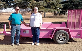 Couple Gets Pink Trailer from Felling
