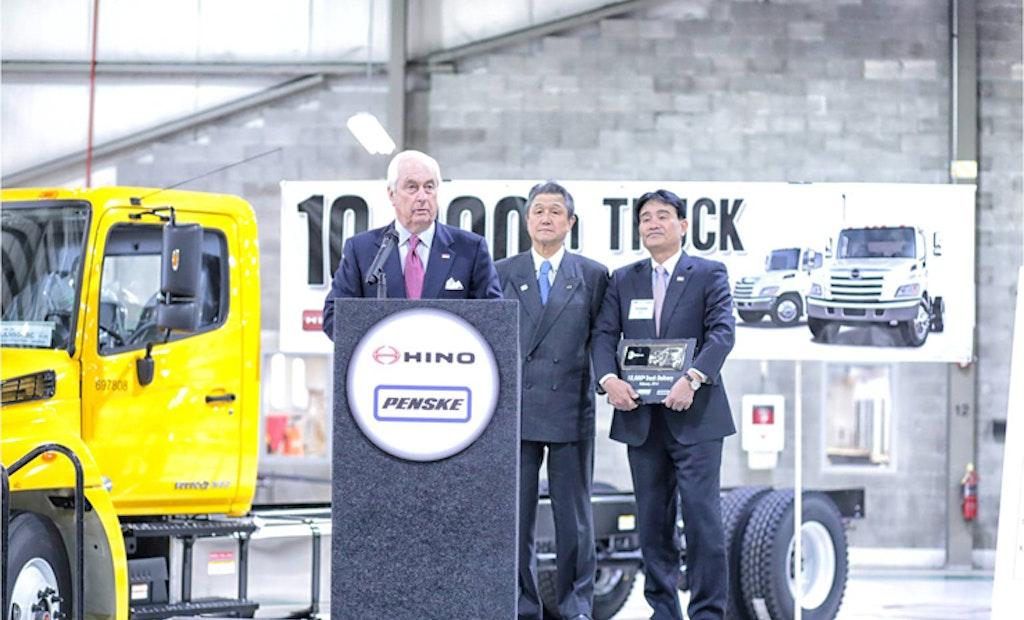 Hino Trucks Delivers 10,000th Truck to Penske