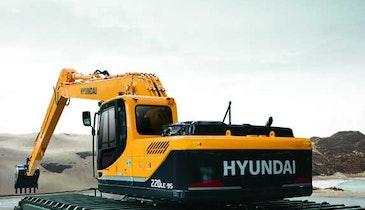 Hyundai Construction amphibious excavator -