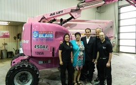 Going Pink: Articulating Boom Brings Breast Cancer Awareness