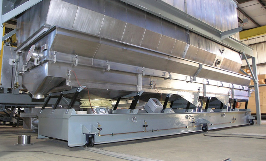 Rail-Mounted Fluid Bed Dryer Provides Easy Internal Bag Access