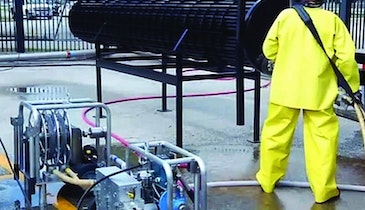 NLB tube bundle cleaning system