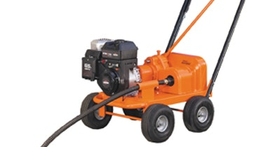Gas-Powered Drain Cleaner Blasts Large Lines & Long Runs