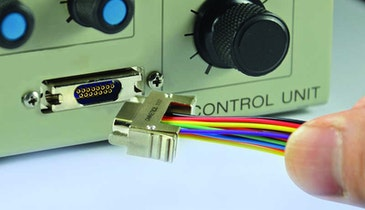 Omnetics latching Micro-D connector