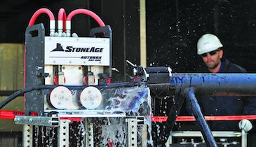 StoneAge hands-free hose handling system