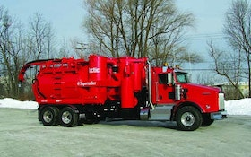 Super Products cold-weather vacuum truck