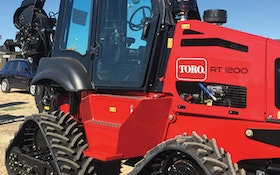 Tracked Trencher - Toro RT1200 riding trencher cab assembly