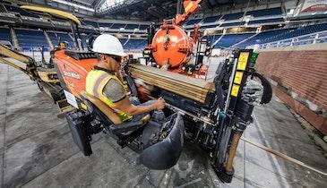 HDD Fleet Meets Tight Deadline for Job at Ford Field