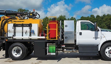 Compact PTO-driven hydrovac truck from Vac-Tron keeps road weight limits in check
