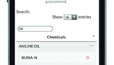 Wilden chemical resistance guide app