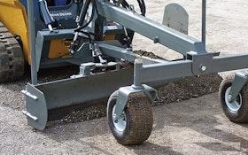 Skid Steers/Attachments - Worksaver SSGB-8B Skid Steer Grader Blade