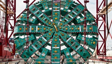 Excavation to Reach World's Largest Tunneling Machine Complete