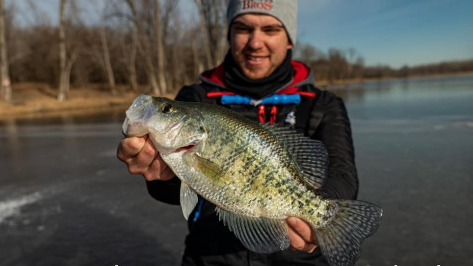 Video: Ice Fishing for Mega Crappies
