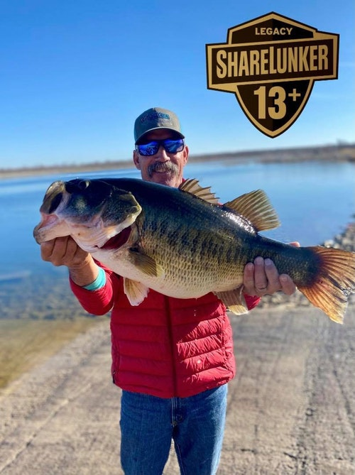 FB post from Feb. 23, 2021: O.H. Ivie is at it again with another ShareLunker! Donald Burks 13.40 pound Lunker makes the 3rd Legacy class bass in the past 5 days from Ivie! Amazing! Congratulations, Donald and thank you for your contribution to bigger better bass in Texas!