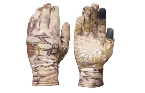 During Minnesota's shelter-in-place orders, the author is wearing a pair of Kryptek Krytos Gloves for trips to the grocery store.