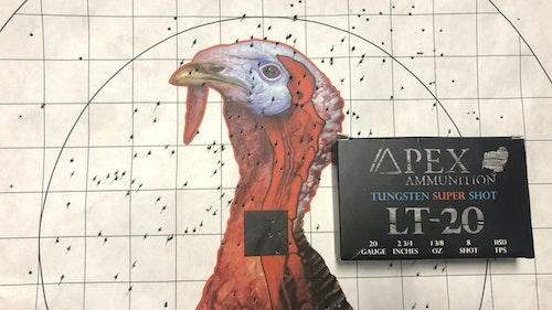 One of the first ammo companies on the scene to load TSS was Apex Ammunition out of Columbus, Mississippi. Turkey hunters using their shells started preaching the gospel too, and now you have to hunt around to find Apex rounds in stock. Photo: Mark Olis