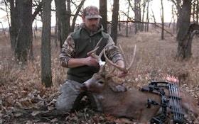 Rare Video: 5x4 Iowa Whitetail Attacks Bowhunter's Dead 4x4 Buck