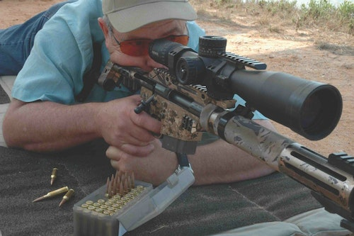 Here ace marksman David Tubb fires a rifle in 6XC. Mild cartridges can hit — and kill — at distance.