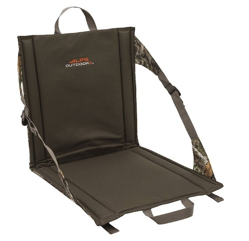 The Backwoods seat from ALPS OutdoorZ works well for bowhunters who want back support while waiting on a whitetail. Unlike turkey hunting with a shotgun, where it's best to put your back against a large-diameter tree, you can't do that when bowhunting because the tree will interfere with drawing your bow.