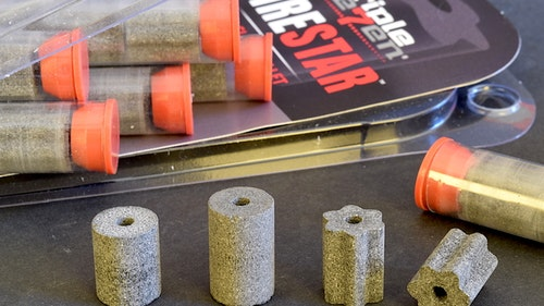 """FireStar pellets for muzzleloaders have deep longitudinal grooves that help the pellet burn more efficiently, yield higher velocities and leave bores cleaner."""""""