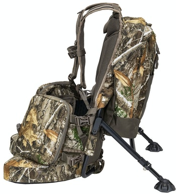 Alps Enforcer all-in-one backpack and hunting chair combines the best of both in one unit for mobile hunters.
