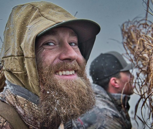 MLB pitcher Archie Bradley duck hunting at his Oklahoma ranch Crash Landing. Photo: Big Tex Media