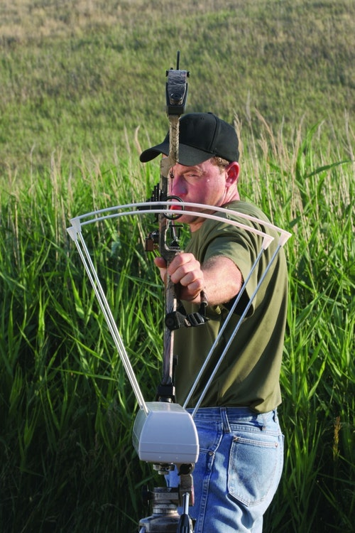 Determine arrow velocity by shooting through a chronograph at your local pro shop to obtain a feet per second reading. You'll need to understand the kinetic energy your bow is capable of to see if it is up to the task of long shots on whitetails, as well as bigger western game such as elk.