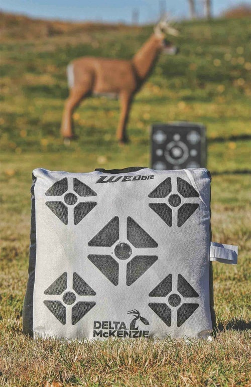 Shooting a bag target is good practice, but for added realism, it's hard to beat a 3-D target.
