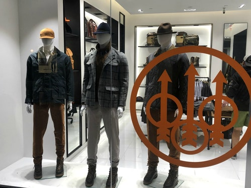 Beretta pop-up store in Lenox Square Mall in Buckhead, near Atlanta