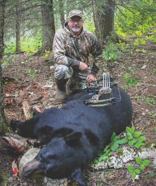 The author bagged this big black bear during his Grand Slam quest.