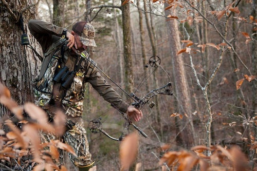 When whitetails appear off the planned deer trail, you'll need to improvise when it comes to drawing your bow undetected. Just remember: If you can see a deer's eyes, then it can see you move.