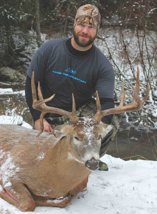 This is one of several mature bucks Washington bowhunter Chad Bowman has capitalized on in the Evergreen State.