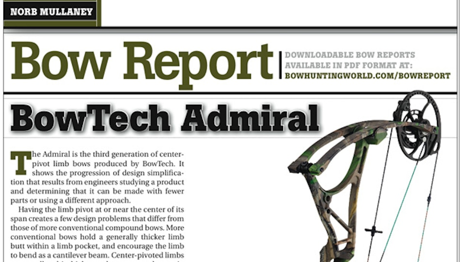 Bow Report: BowTech Admiral