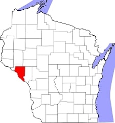 Buffalo County is located along the western edge of Wisconsin.