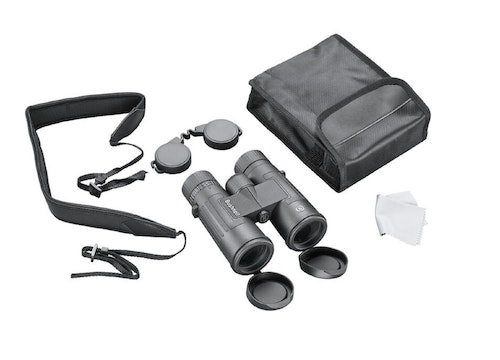 Accessories included in the box with the Bushnell Legend 8x42mm bino.
