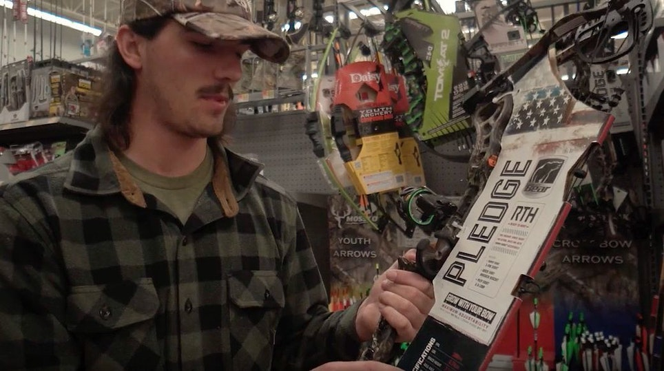 For this public land challenge, Jake from The Hunting Public chooses a Bear Pledge compound from Walmart.