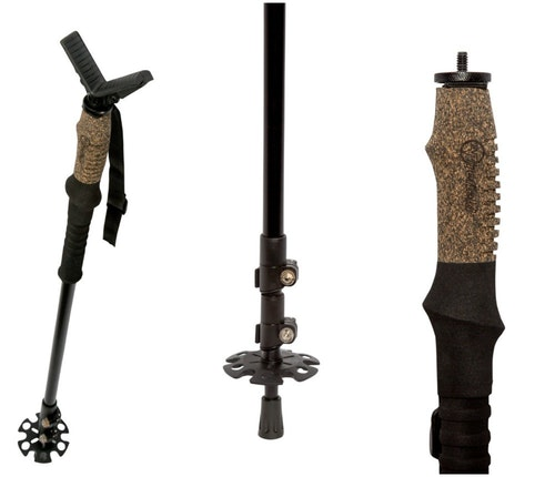 The Firefield Monopod Shooting Stick is lightweight and adjustable from 31.7 to 67.4 inches. It also has a removable rubber yoke for use with cameras or optics.