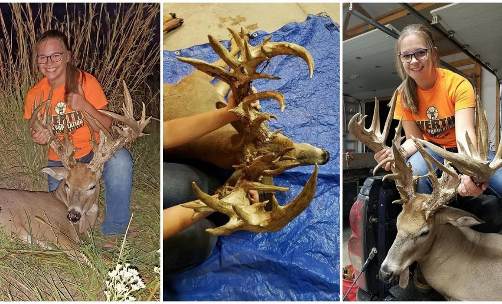 Youth Hunter Shoots 280-Class Non-Typical Kansas Whitetail
