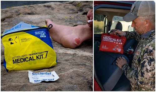 If you don't want to build your own first-aid kit from scratch, there are several affordable, adventure-specific kits available. One brand with a solid reputation for outdoorsmen and women is Adventure Medical Kits. Of course, a first-aid kit is only helpful if you remember to pack it and know how to use it.