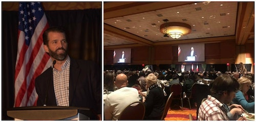 Donald Trump Jr. was the keynote speaker at the Pope and Young Club 31st Biennial Convention in Omaha, Nebraska.
