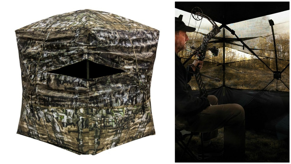 Modern pop-up style ground blinds such as the Primos SurroundView provide hunters maximum visibility due to their see-through walls.