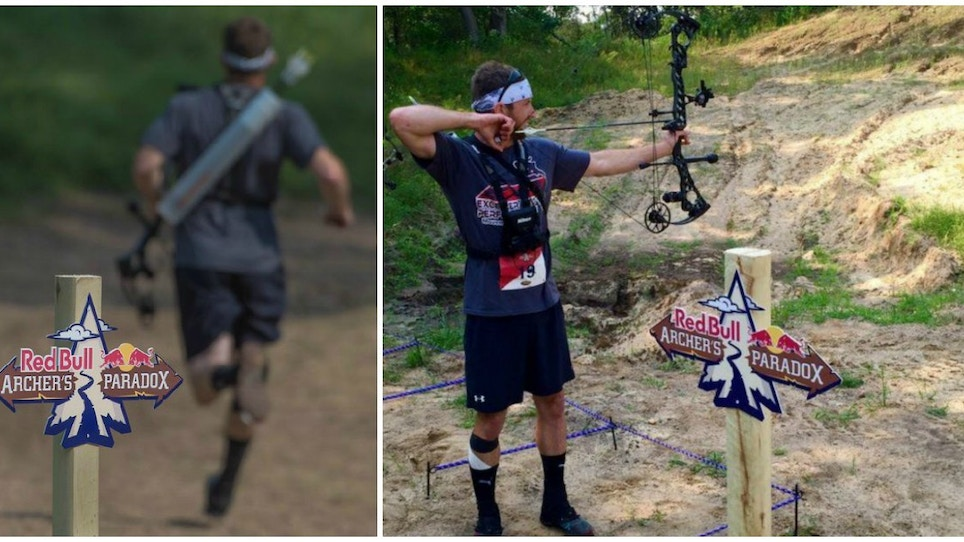 Running Race + Archery Test = Red Bull Archer's Paradox