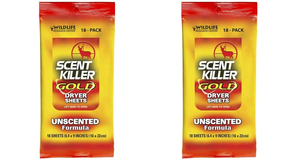 Scent Killer Gold Unscented Dryer Sheets