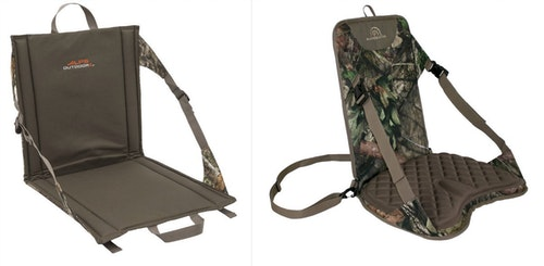 Alps Outdoorz Backwoods (left) and Sportsman's Outdoor Products Easy Chair (right).