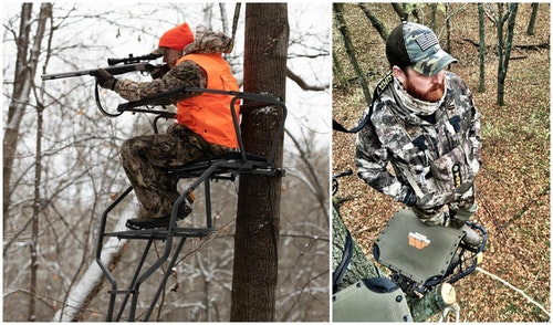 Wearing a full-body safety harness under a jacket or parka makes it comfortable for bow or gun hunters to access their pockets, and still stay safe in the treestand.