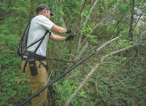 Hanging treestands and cutting shooting lanes in spring and early summer is hot, hard work, but it will pay off later when you won't have to alert deer to your presence just before hunting season.