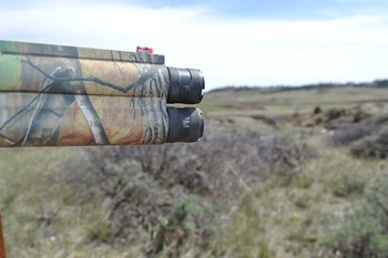 Two choke options let turkey hunters kill 'em at 50 or 15 yards as the situation requires.